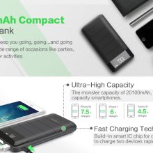 Dual USB Power Bank with LCD