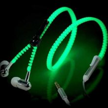 Luminous Zipper Design Earphones